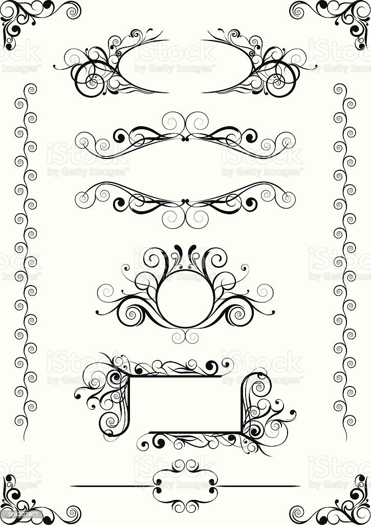 Abstract frames and angle royalty-free stock vector art