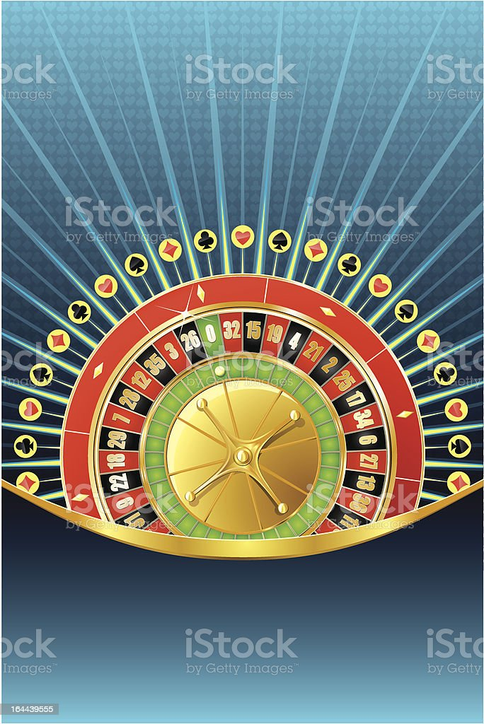 Abstract gambling background with roulette royalty-free stock vector art