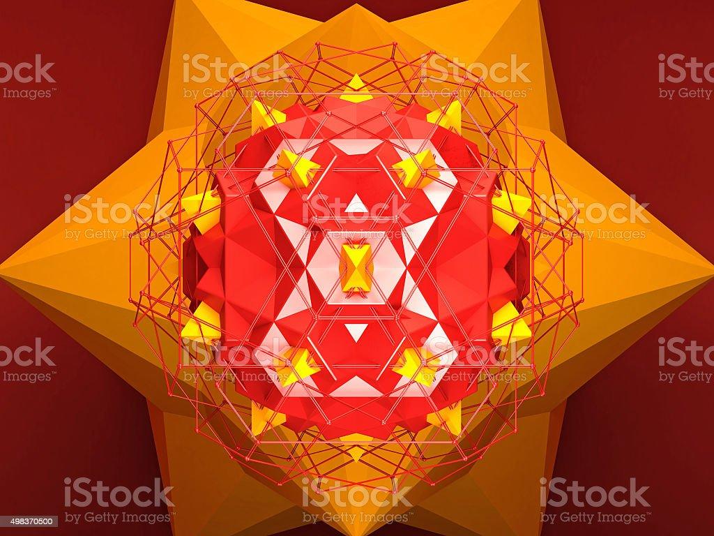 Abstract Geometric Ngon Background vector art illustration