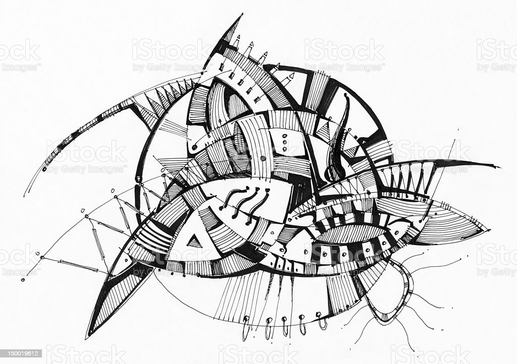 Abstract geometrical drawing royalty-free stock vector art