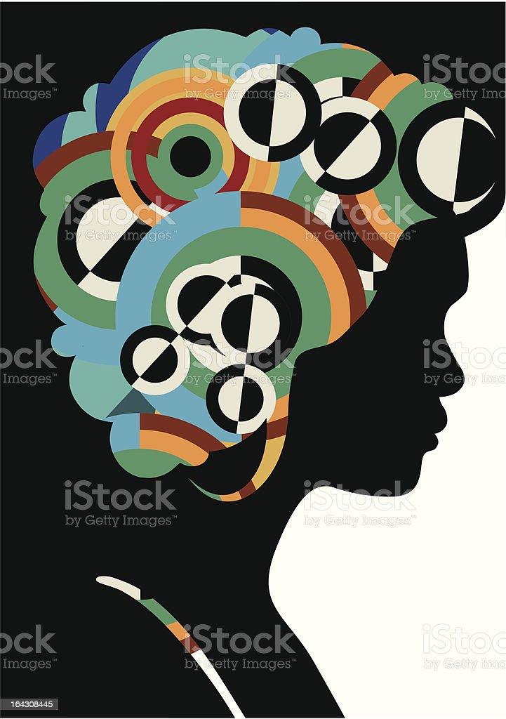 Abstract girl with stylised hair royalty-free stock vector art