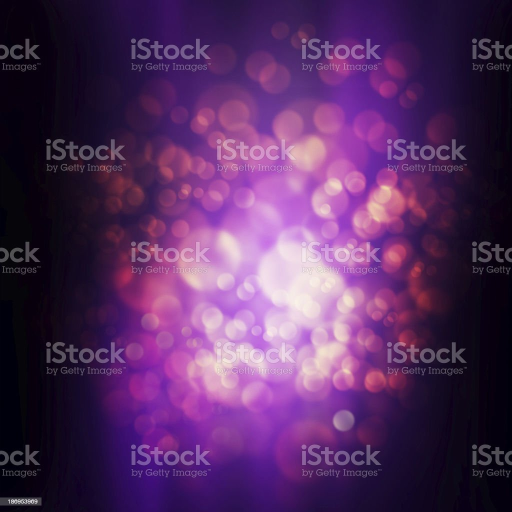 abstract glowing circles on a purple background vector art illustration