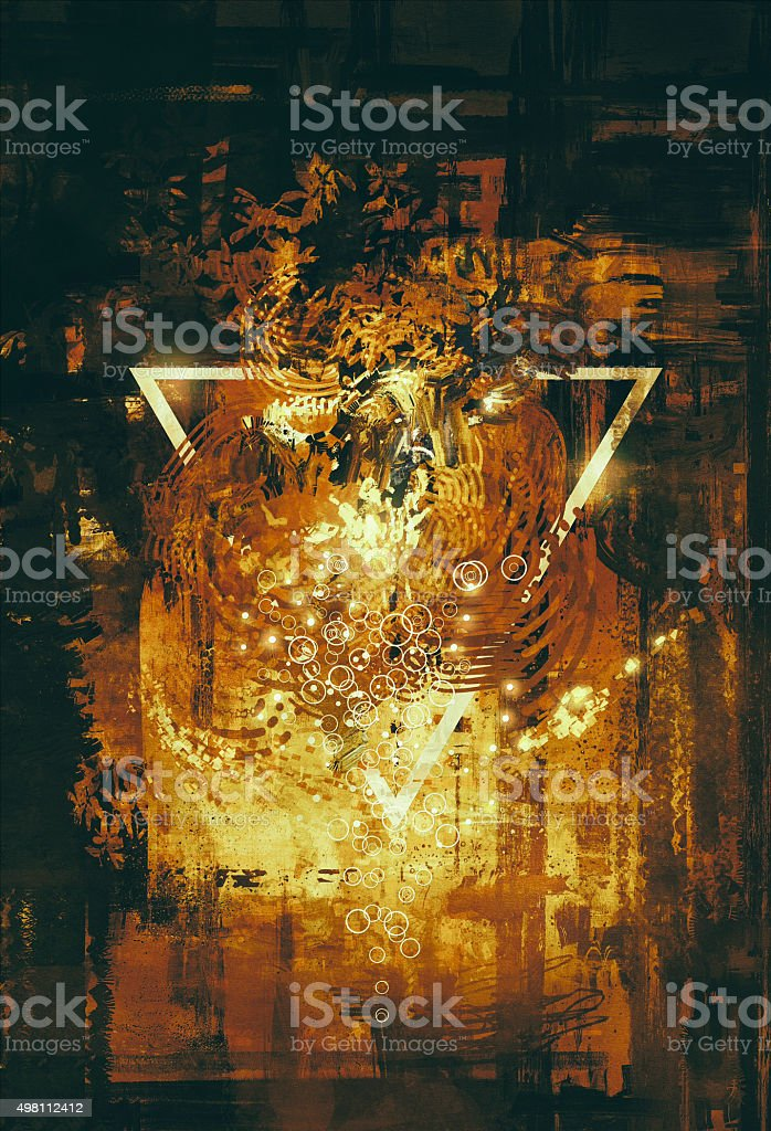abstract golden elements vector art illustration