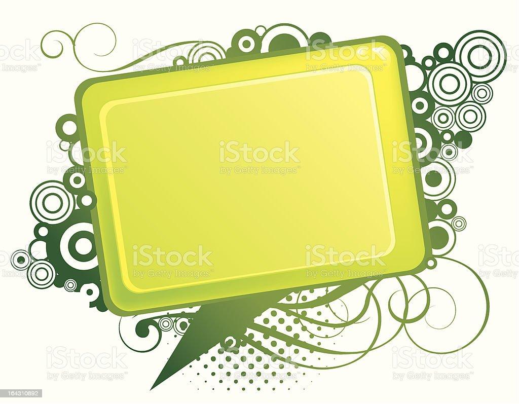 Abstract green design royalty-free stock vector art