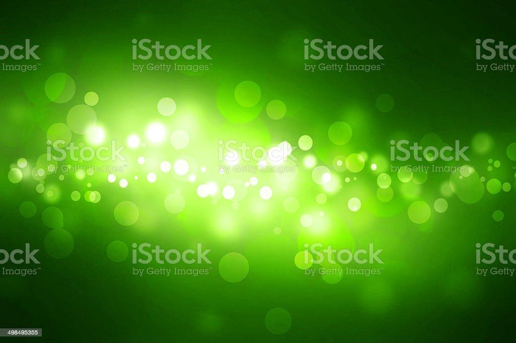 Abstract Green Glitter Lights background vector art illustration