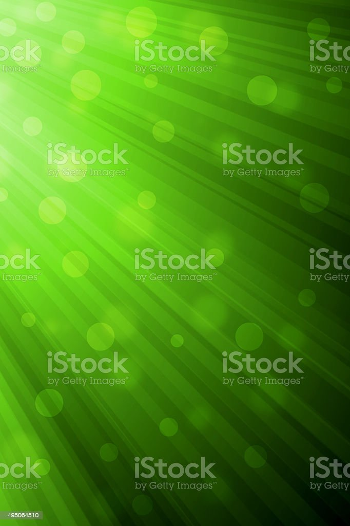 Abstract Green light rays background vector art illustration