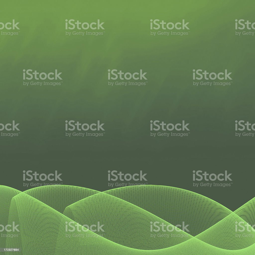Abstract green wave XXL royalty-free stock vector art
