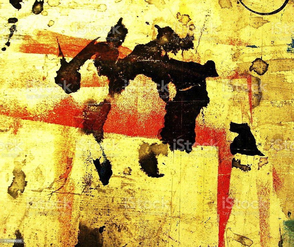 Abstract Grunge Painting vector art illustration