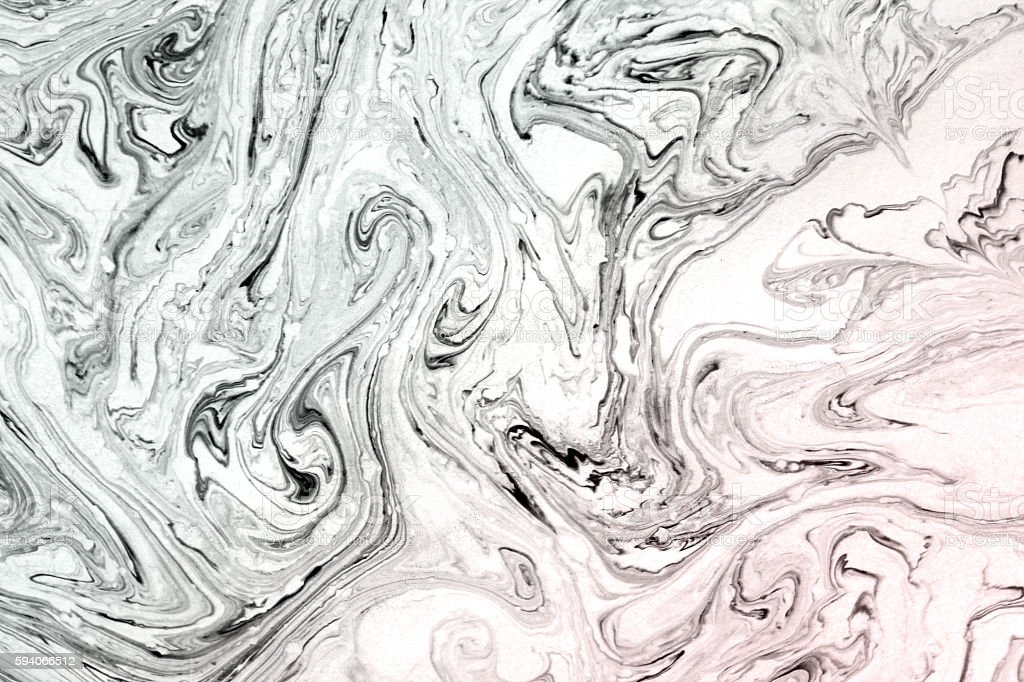 Abstract hand painted ink marble texture. vector art illustration