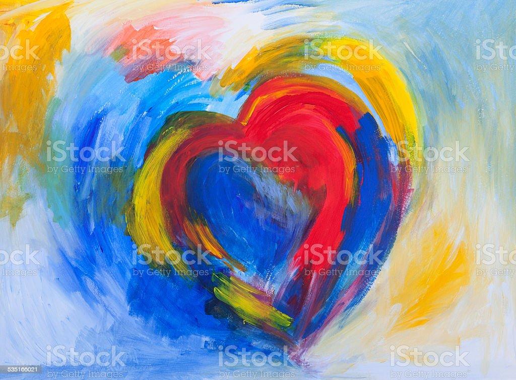 abstract Heart vector art illustration