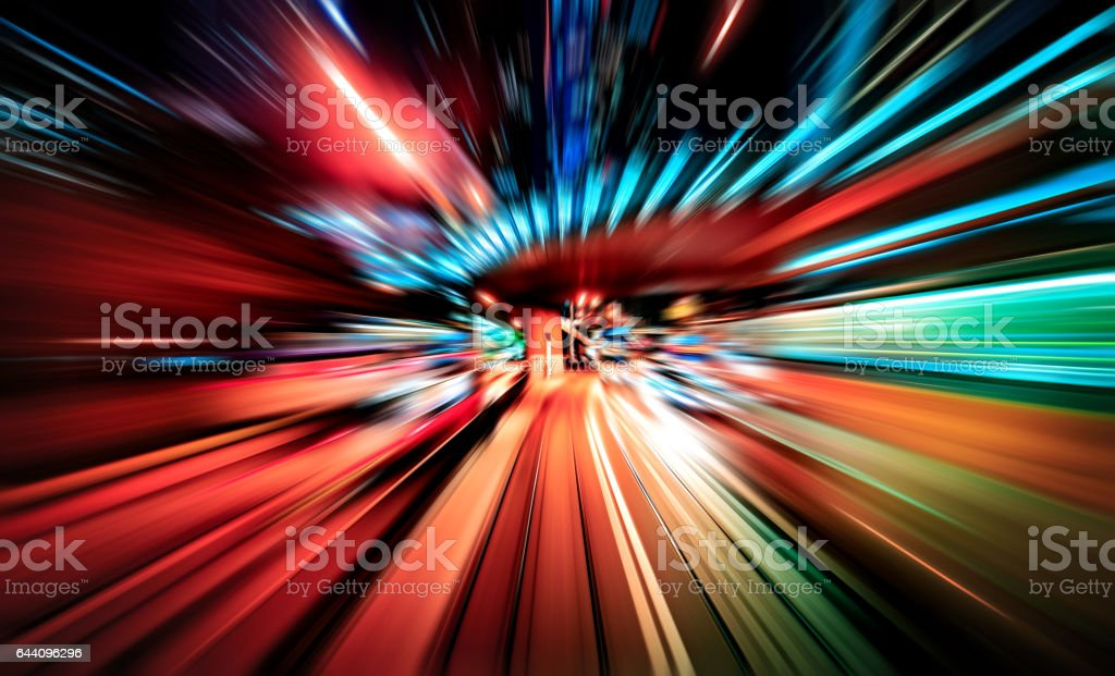 Abstract high speed motion lighting effect vector art illustration