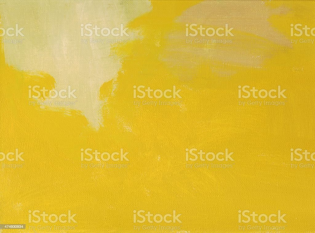 abstract horizontal yellow-green background canvas oil painting vector art illustration