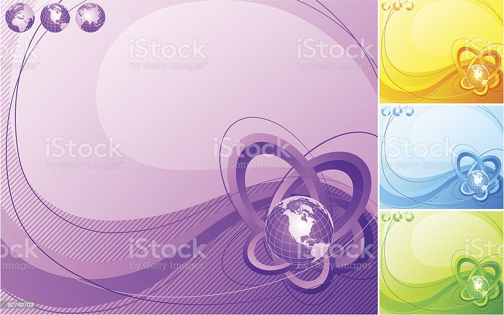 Abstract illustration of Earths. royalty-free stock vector art