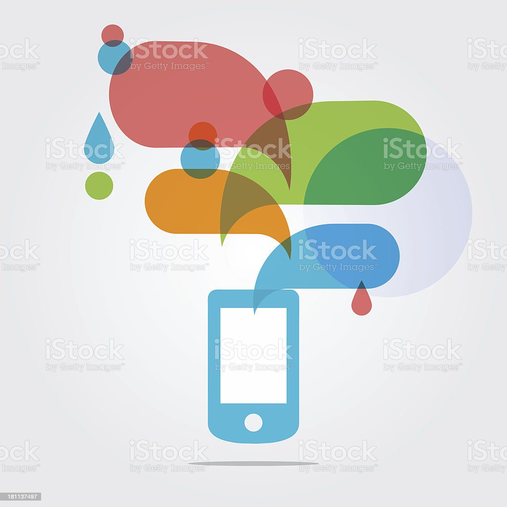 Abstract Illustration of Smartphone royalty-free stock vector art