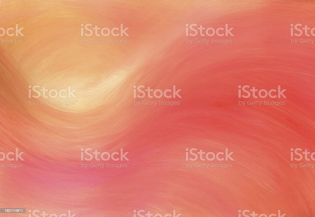 Abstract illustration of the sun over an orange sky royalty-free stock vector art