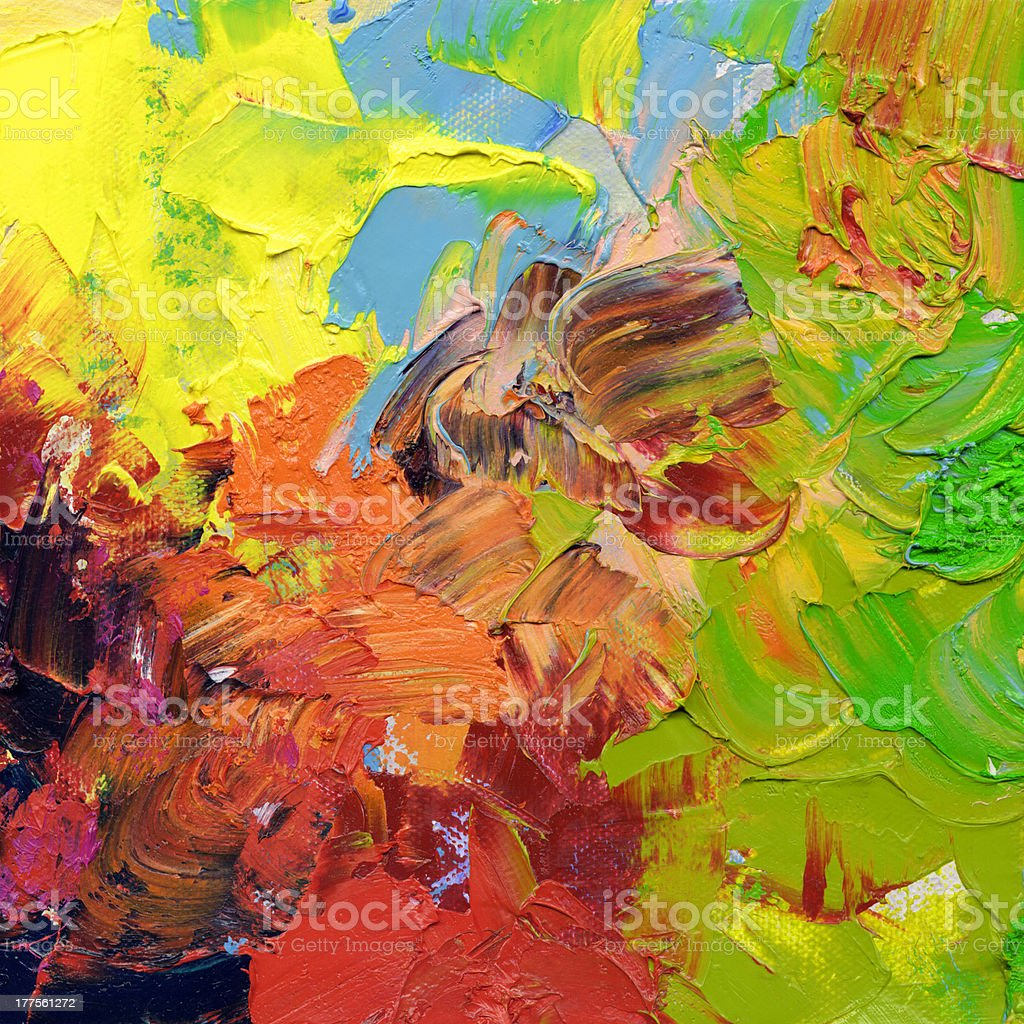 abstract impasto oil paints royalty-free stock vector art