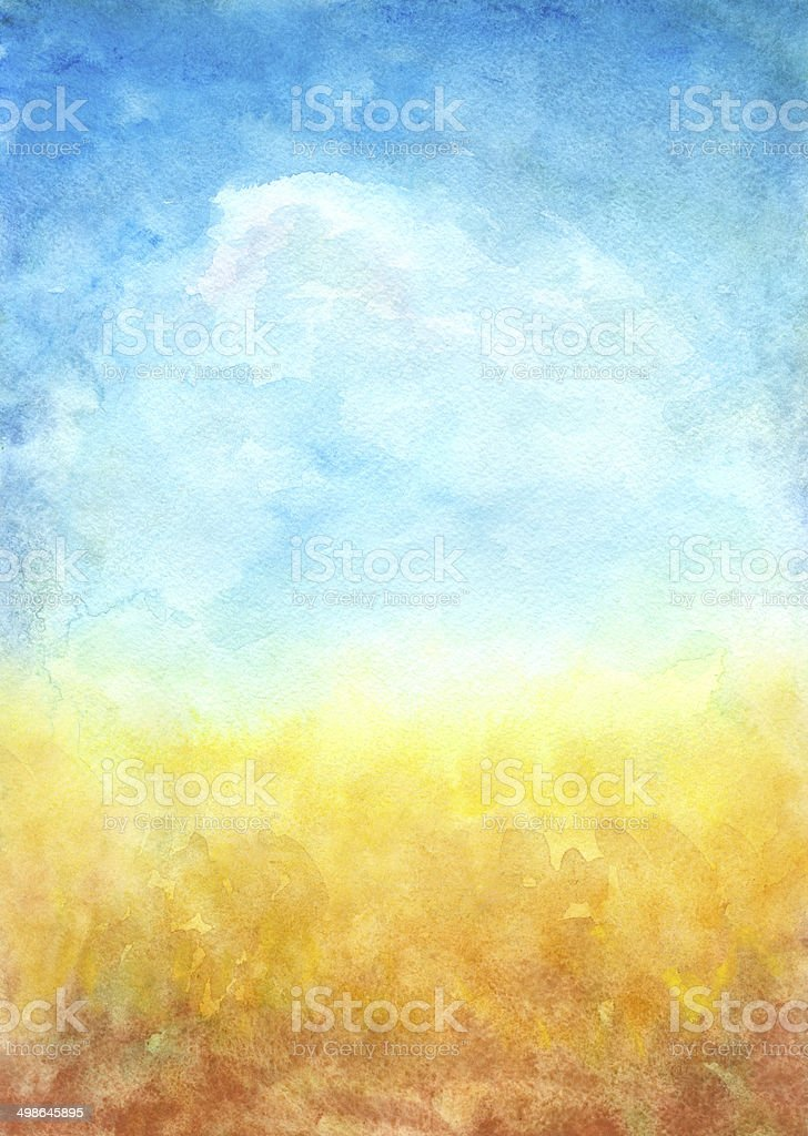 Abstract Landscape Background vector art illustration