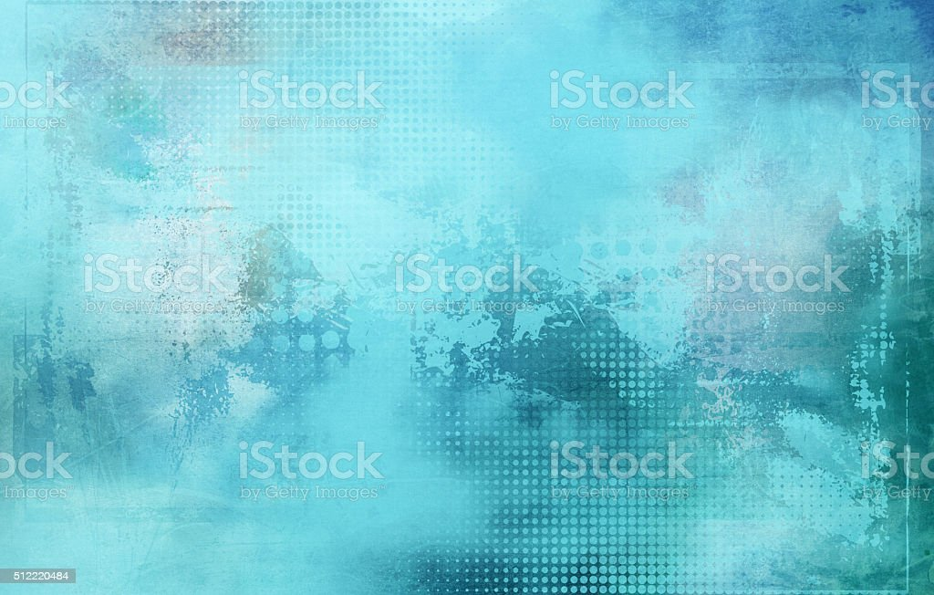 abstract light blue shapes and textures vector art illustration