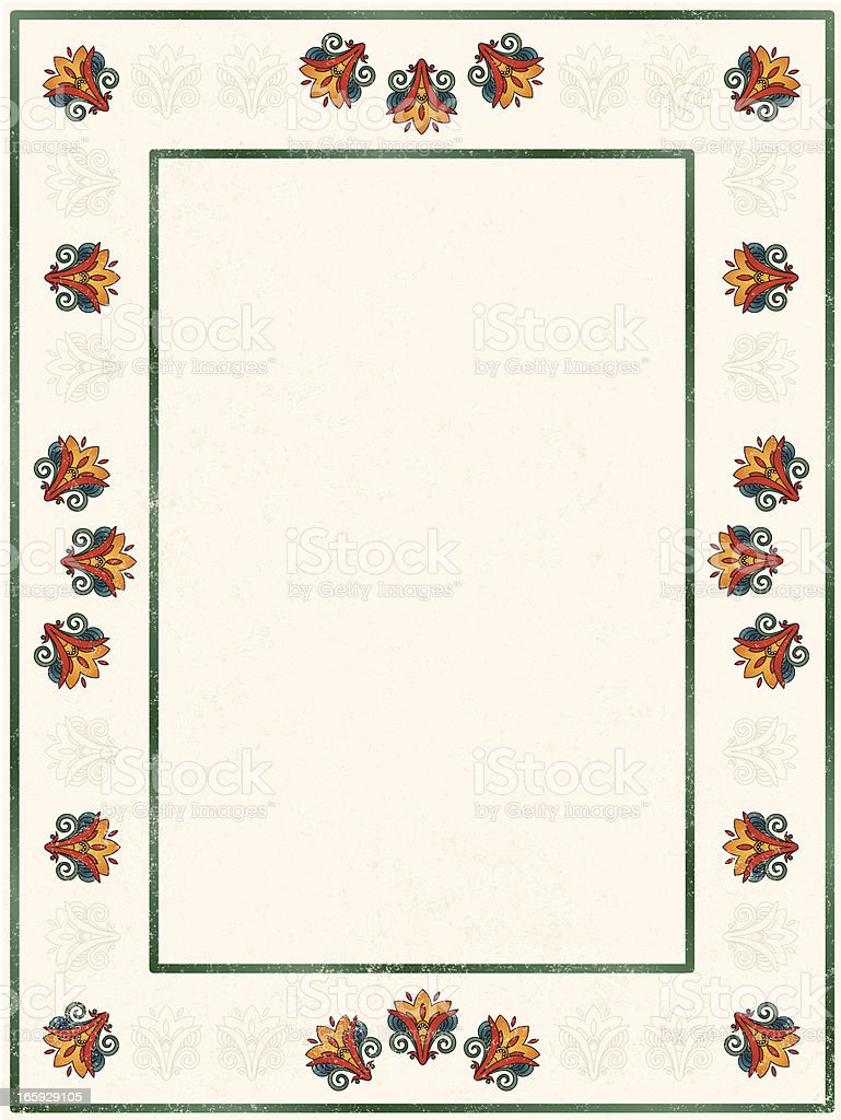 abstract lily deco frame royalty-free stock vector art