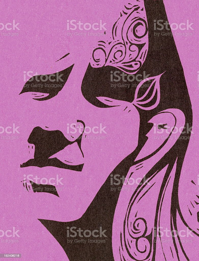 Abstract Man's Face royalty-free stock vector art