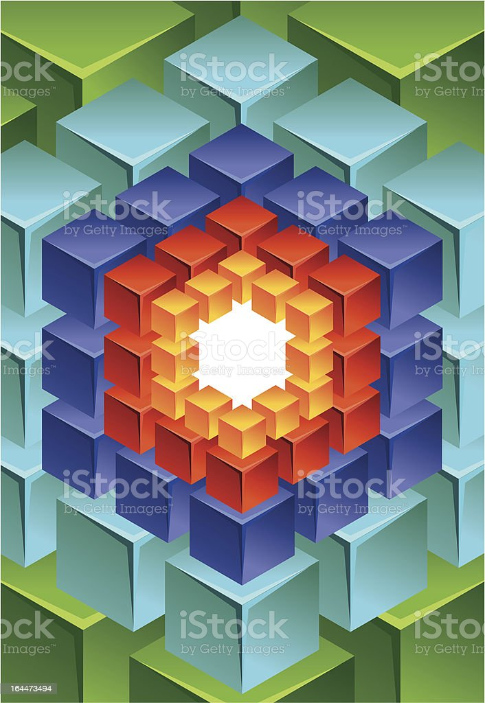 abstract modern background with cube - vector illustration royalty-free stock vector art