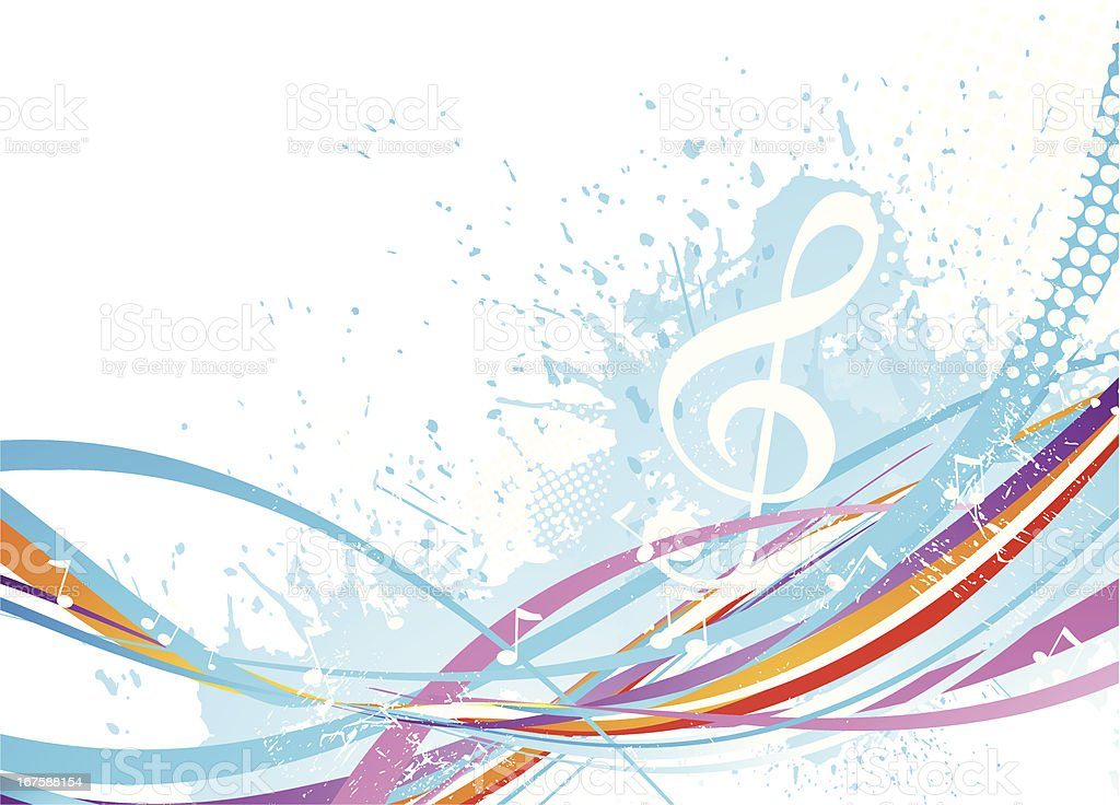 Abstract music background royalty-free stock vector art