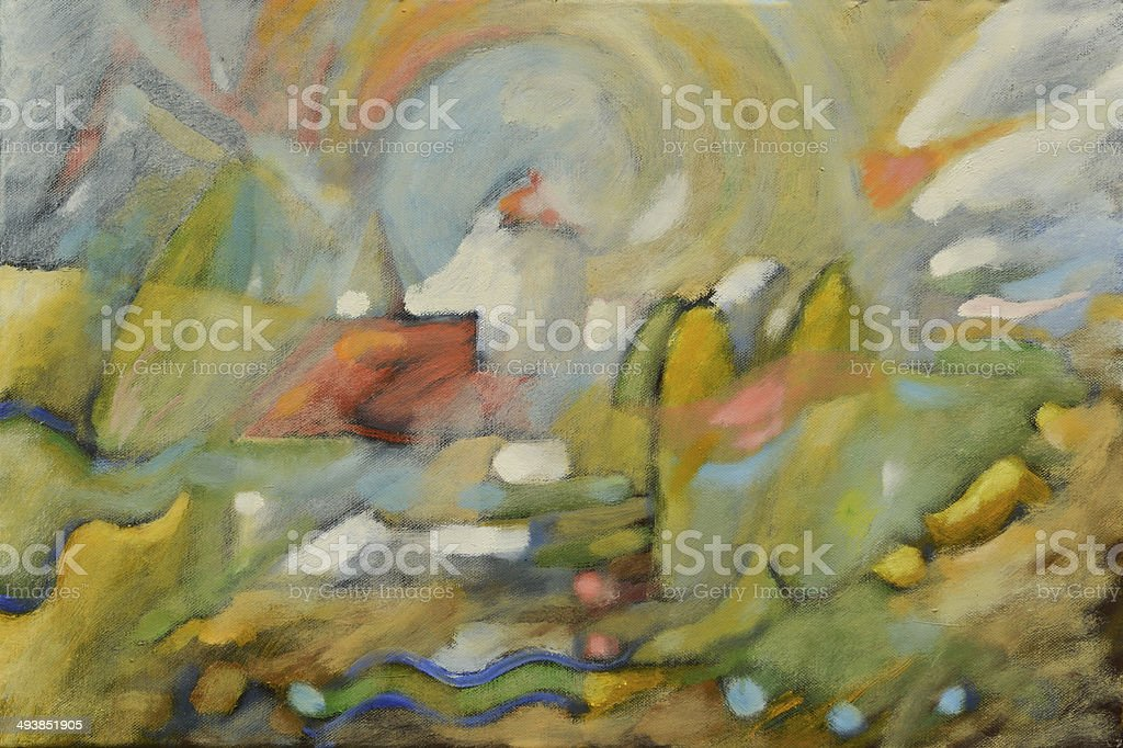 abstract oil painting by B.M. royalty-free stock vector art