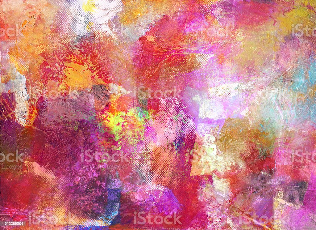 abstract oil painting on canvas vector art illustration