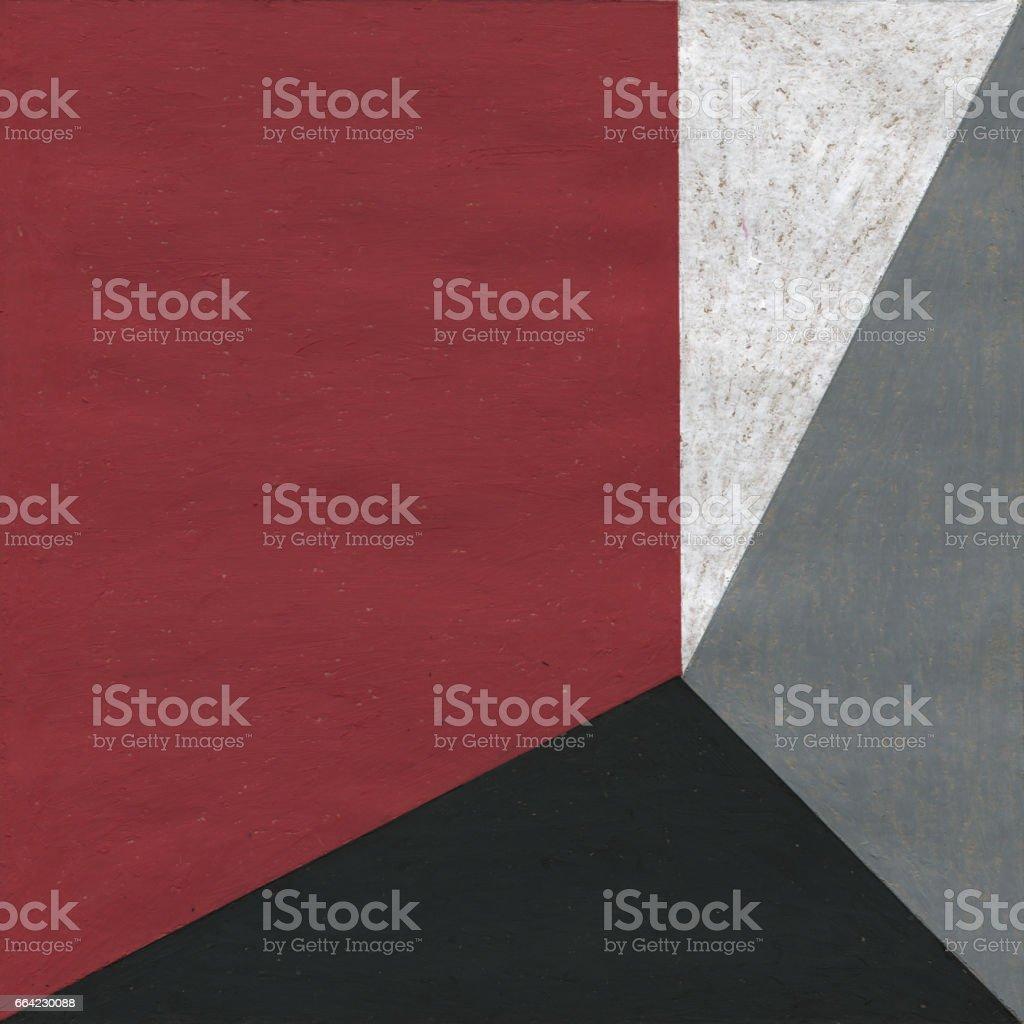 Abstract oil pastel painting. vector art illustration