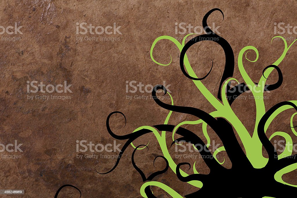 abstract old paper background with swirl vector art illustration