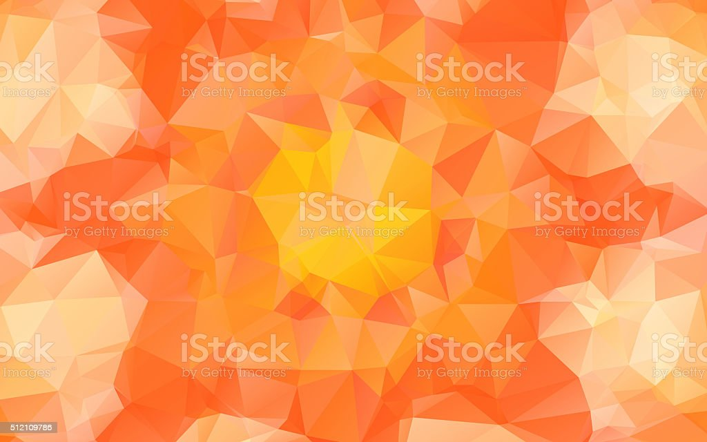 Abstract orange pattern background with triangle shapes vector art illustration