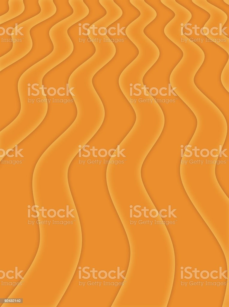 Abstract Orange Wave royalty-free stock vector art