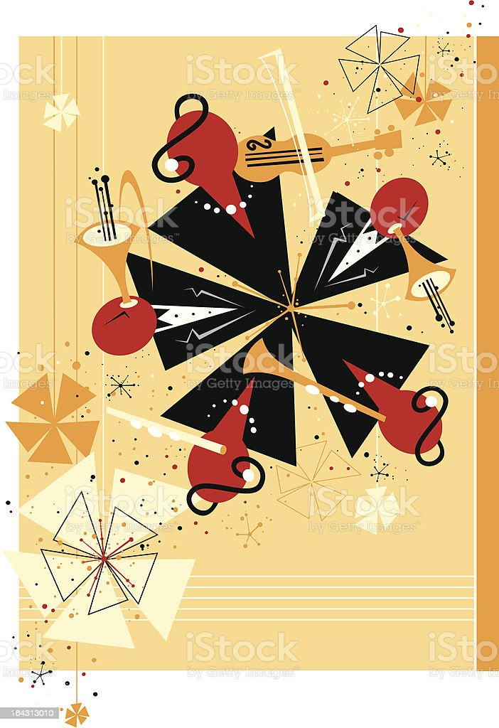abstract orchestra vector art illustration