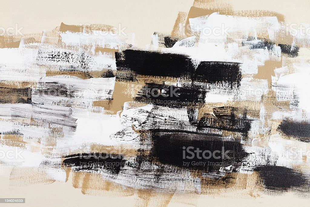 Abstract painted art acrylic vector art illustration