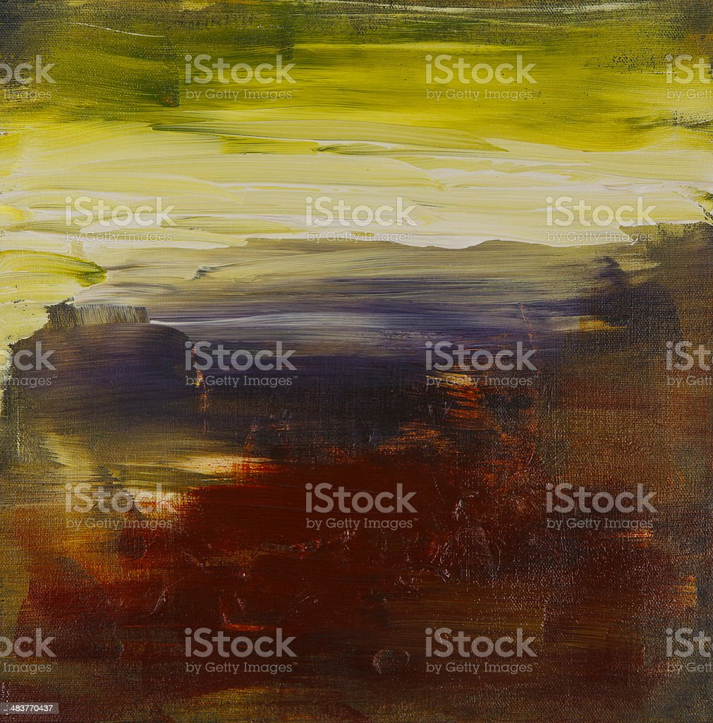 Abstract painted landscape art acrylic vector art illustration