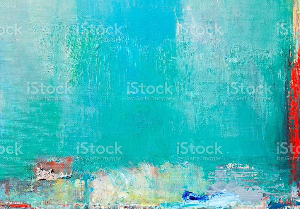 Abstract painted red and green  textured  art backgrounds. vector art illustration