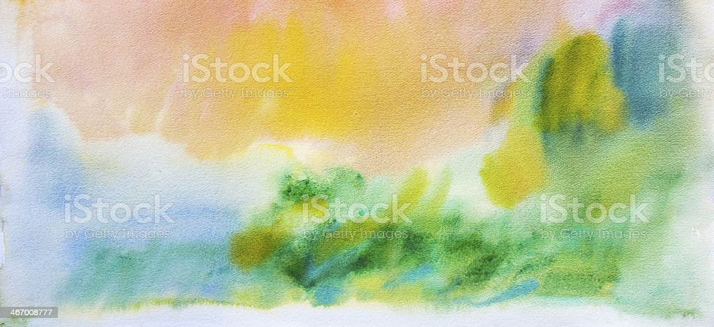 Abstract painted yellow and green art backgrounds. royalty-free stock vector art