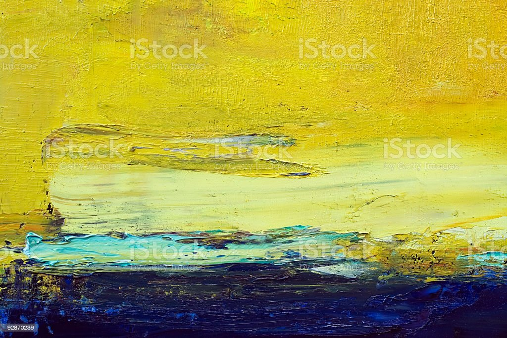 Abstract painted yellow art backgrounds. royalty-free stock vector art