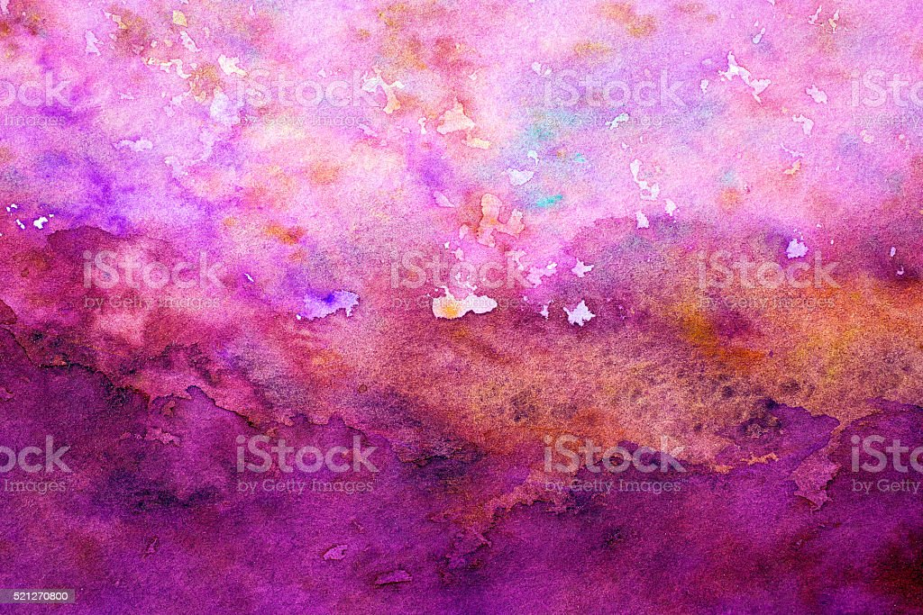 Abstract pink  watercolor background vector art illustration