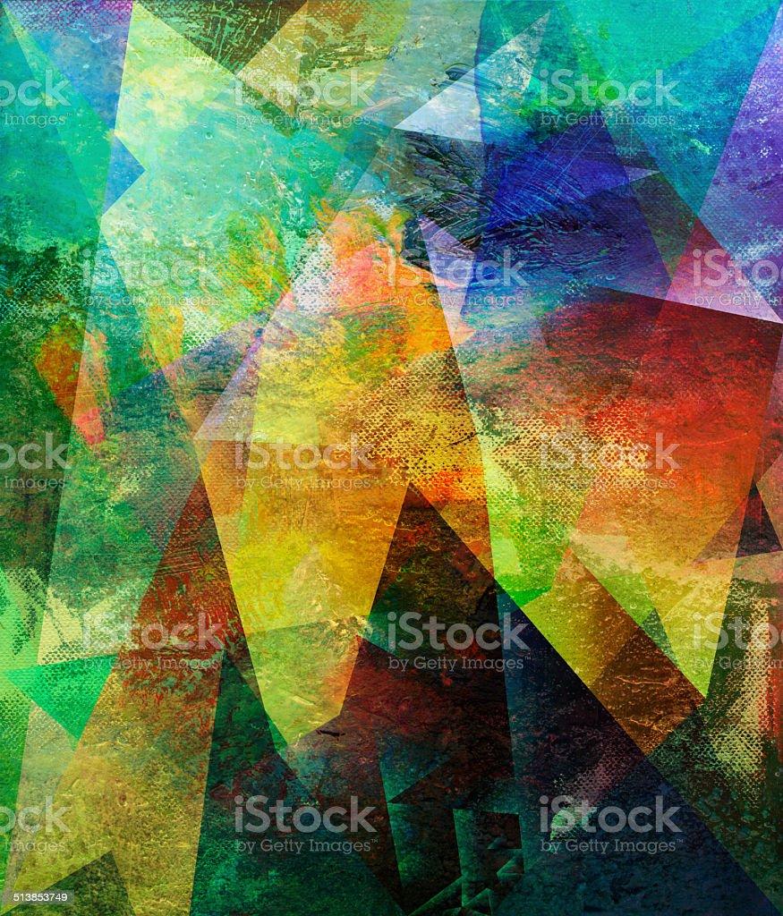abstract polygonal artwork vector art illustration