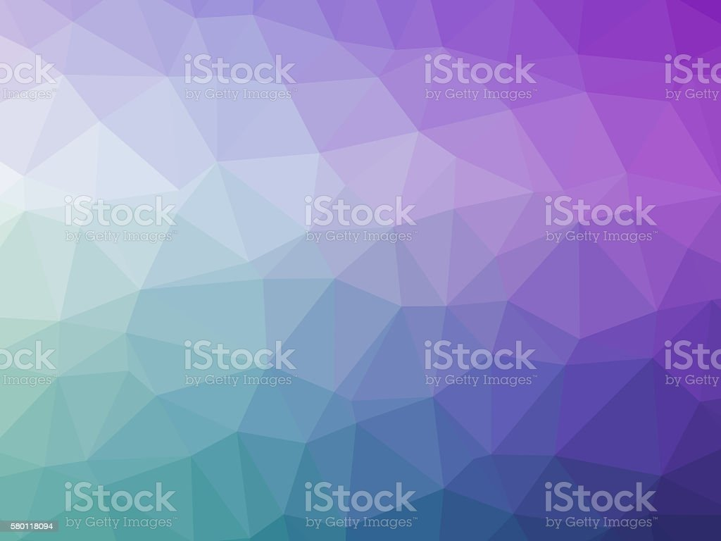 Abstract purple green teal gradient polygon shaped background vector art illustration