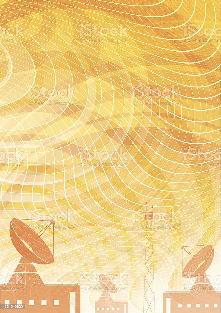 Abstract radio background vector art illustration