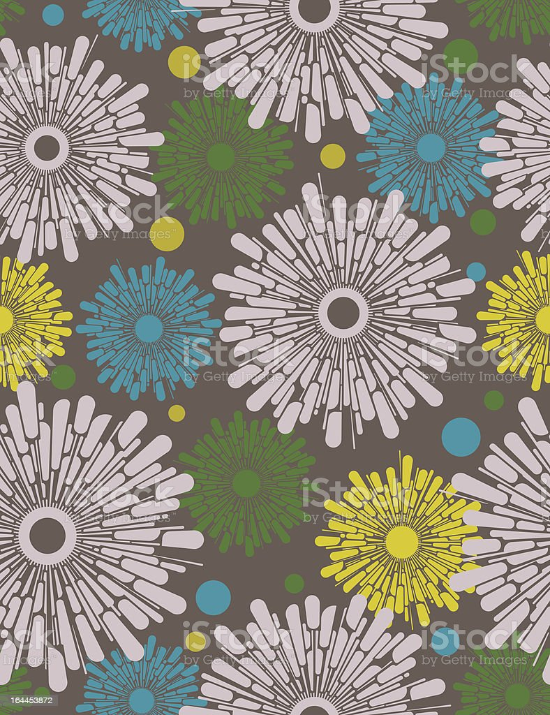 Abstract retro flowers. Seamless pattern. royalty-free stock vector art