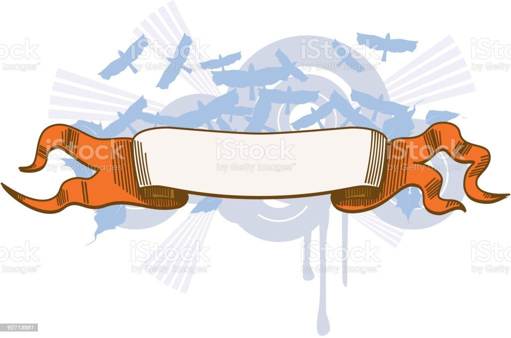 abstract retro ribbon vector art illustration