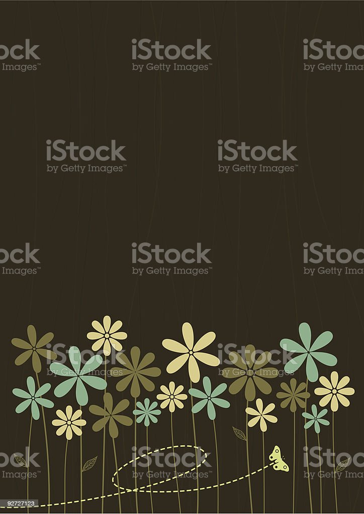 Abstract Retro Style Floral Background royalty-free stock vector art