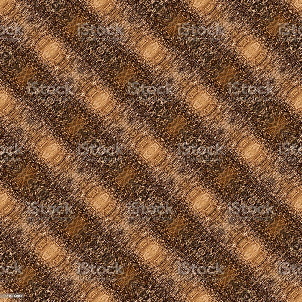 Abstract seamless background or texture, motive of coypu fur. vector art illustration