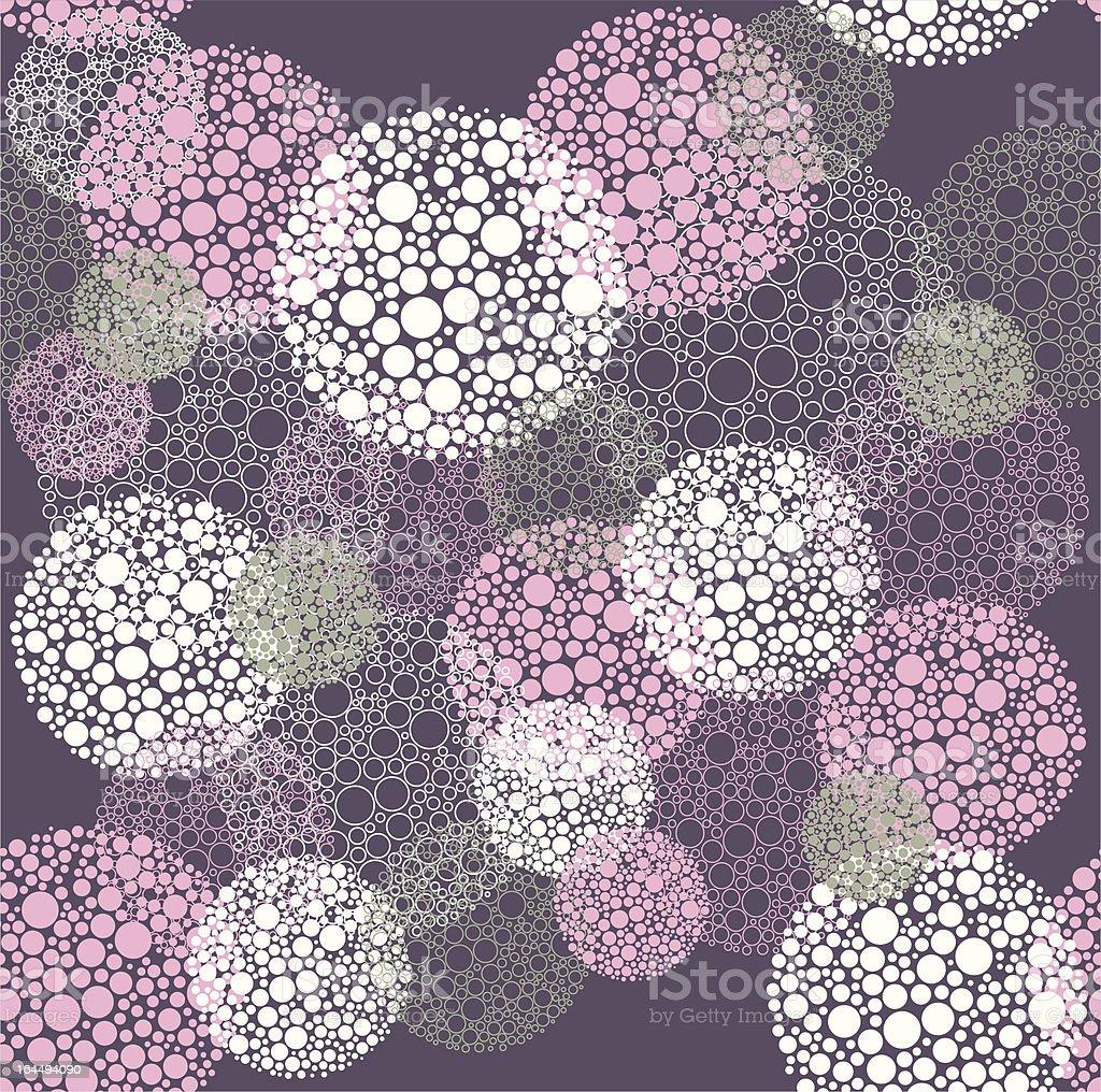 Abstract seamless polka dot circles pattern royalty-free stock vector art