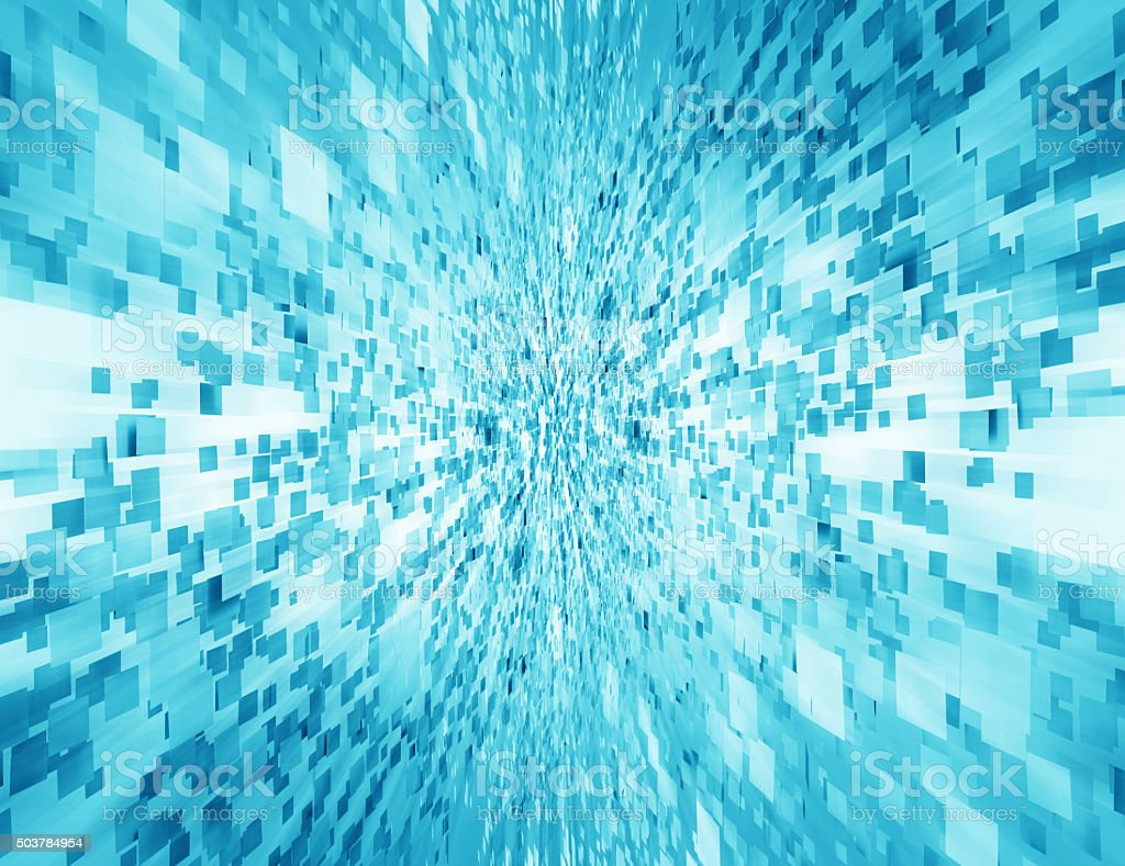 Abstract smooth light blue perspective background vector art illustration