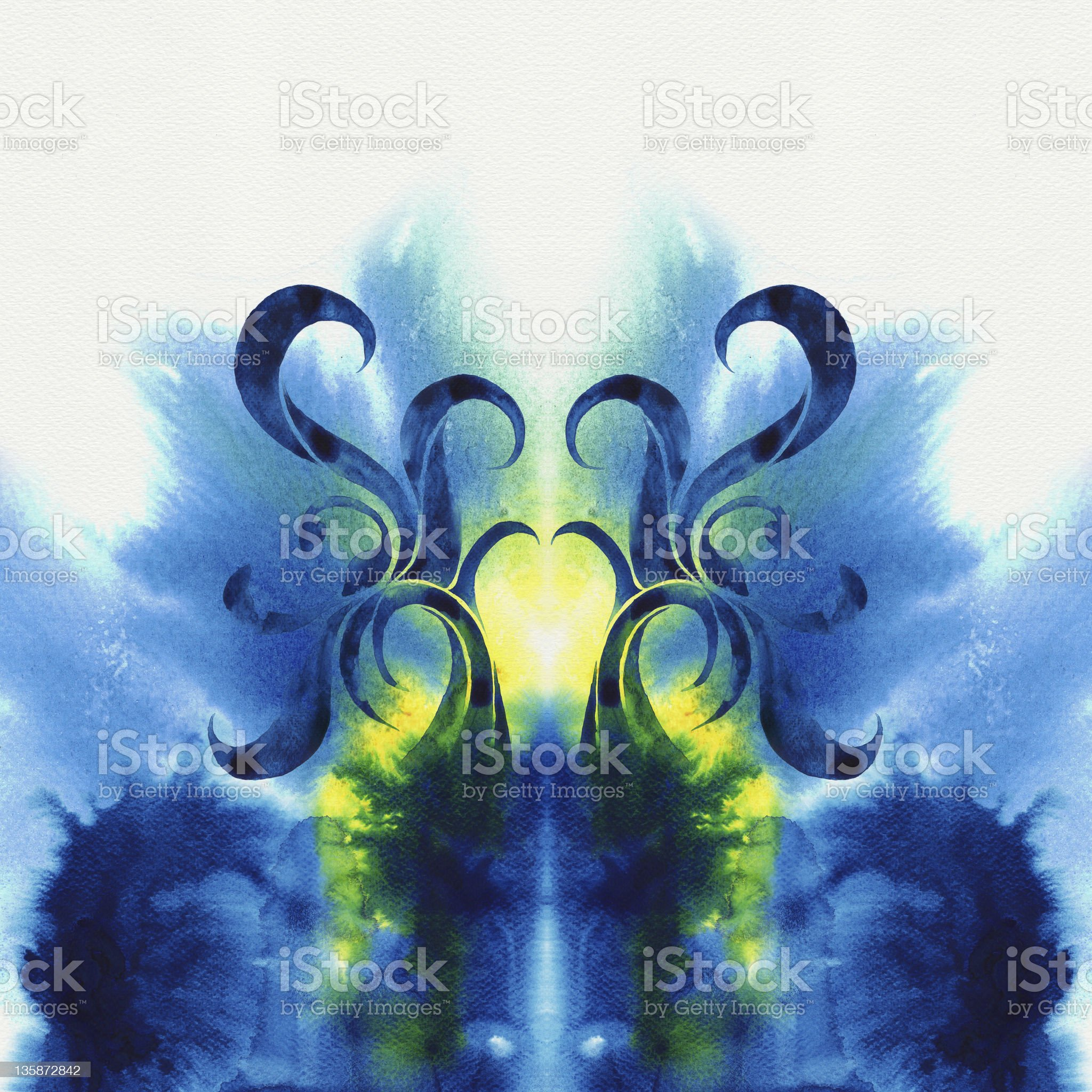 Abstract spread watercolors royalty-free stock vector art