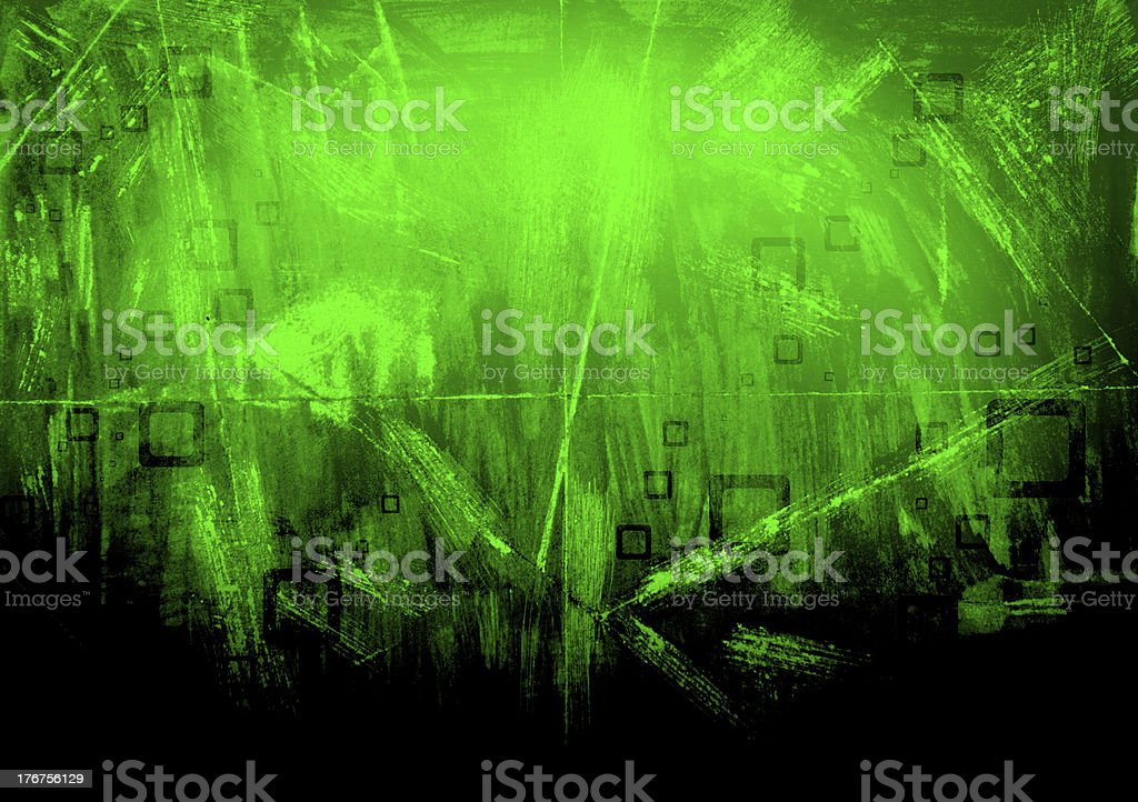 abstract squares on a green grunge background royalty-free stock vector art